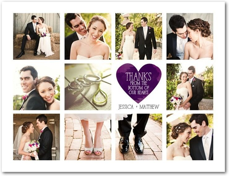 Thank You Postcard By Wedding Paper Divas