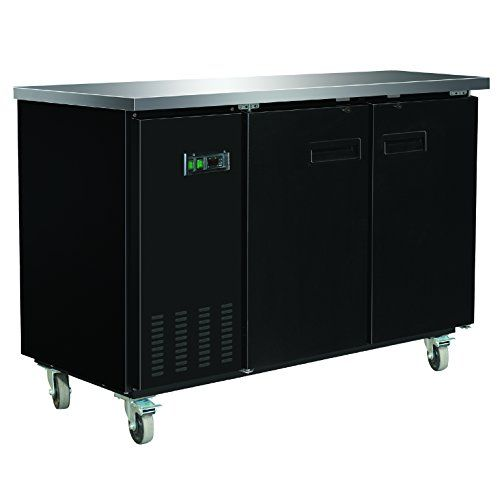 Duura Dvbb60 X Series Back Bar Cooler Black Solid Doors Beverage Refrigerator Locker Storage