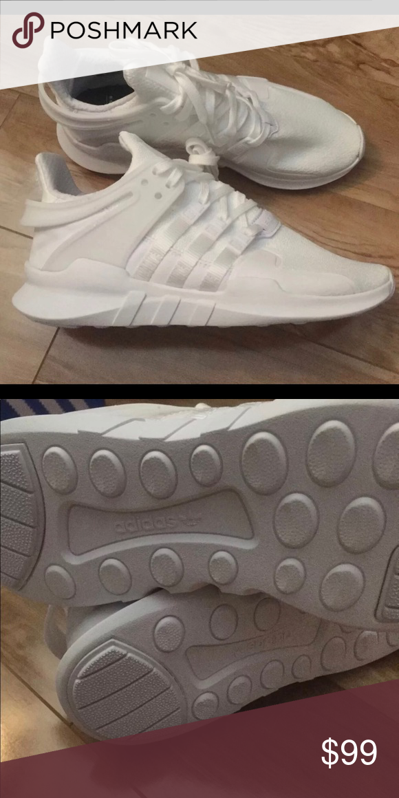 adidas EQT SUPPORT ADV J size 6.0y Also fit a normal women s size 8! Brand  new never worn! Pure white !!! NWT adidas Shoes Sneakers 62ffe0962a