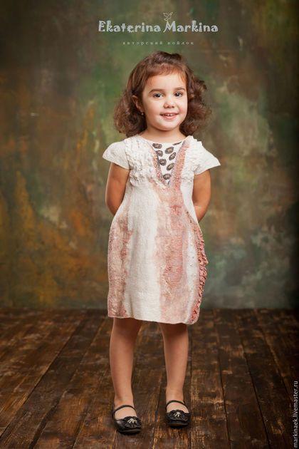e5af9a1b038d97e Одежда для девочек, ручной работы. Ярмарка Мастеров - ручная работа. Купить  Валяное платье