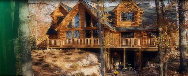 I want a Tomahawk log home in Texas Full wrap around porch Red – Tomahawk Log Home Floor Plans