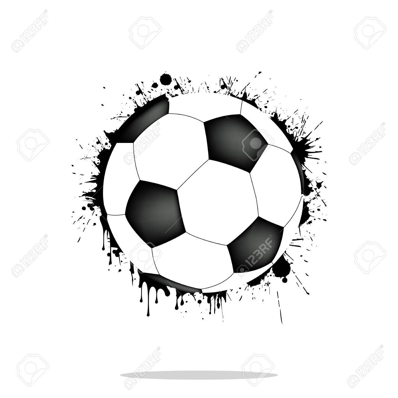 Background Abstract Soccer Ball From Blots Grunge Style Vector Illustration Ad Soccer Ball Background Abstract Blots Soccer Ball Ball Soccer