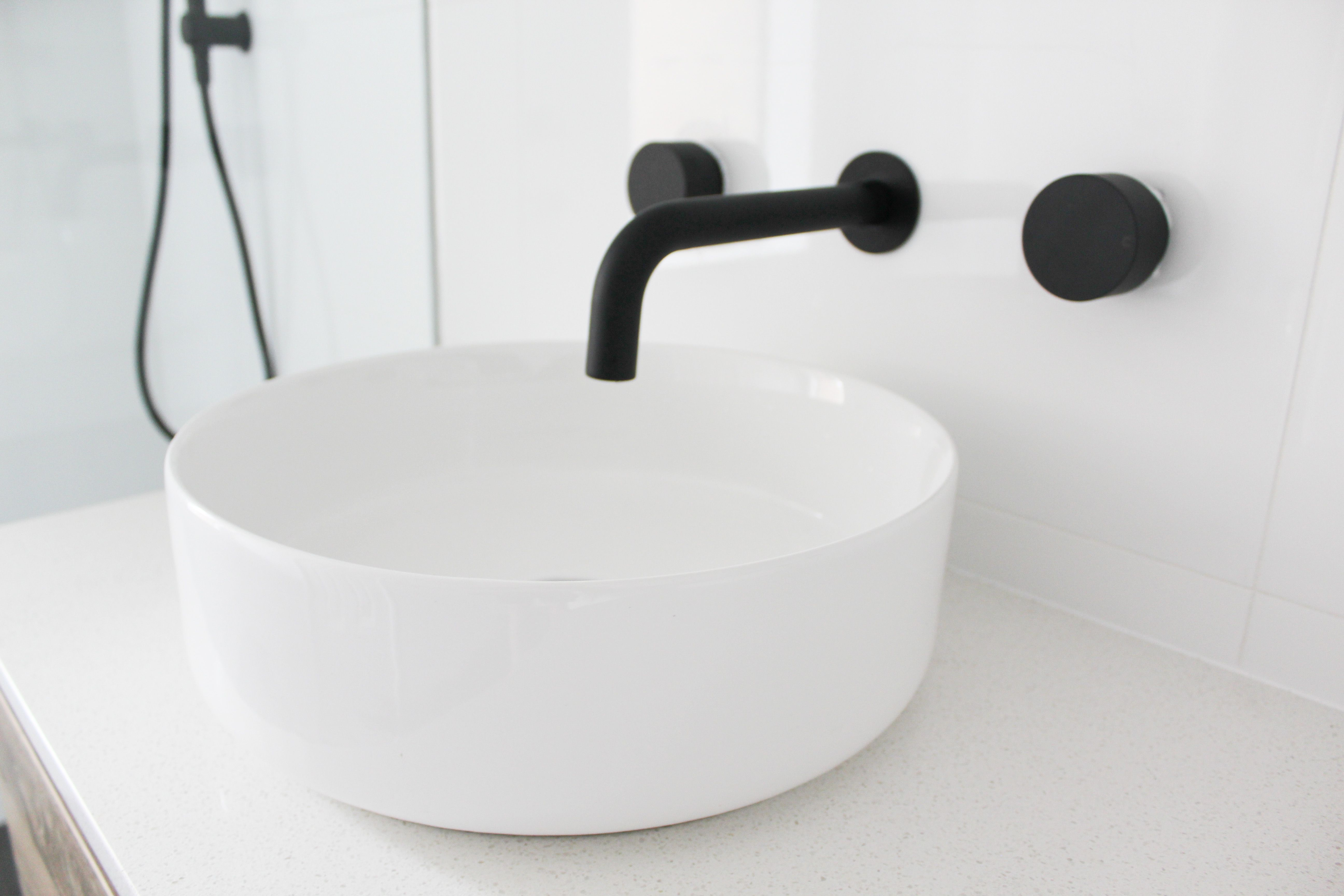 Black Matte Vanity Basin Taps On the Ball Bathrooms ...