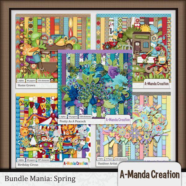 Bundle Mania: Spring   #digiscrap #theStudio
