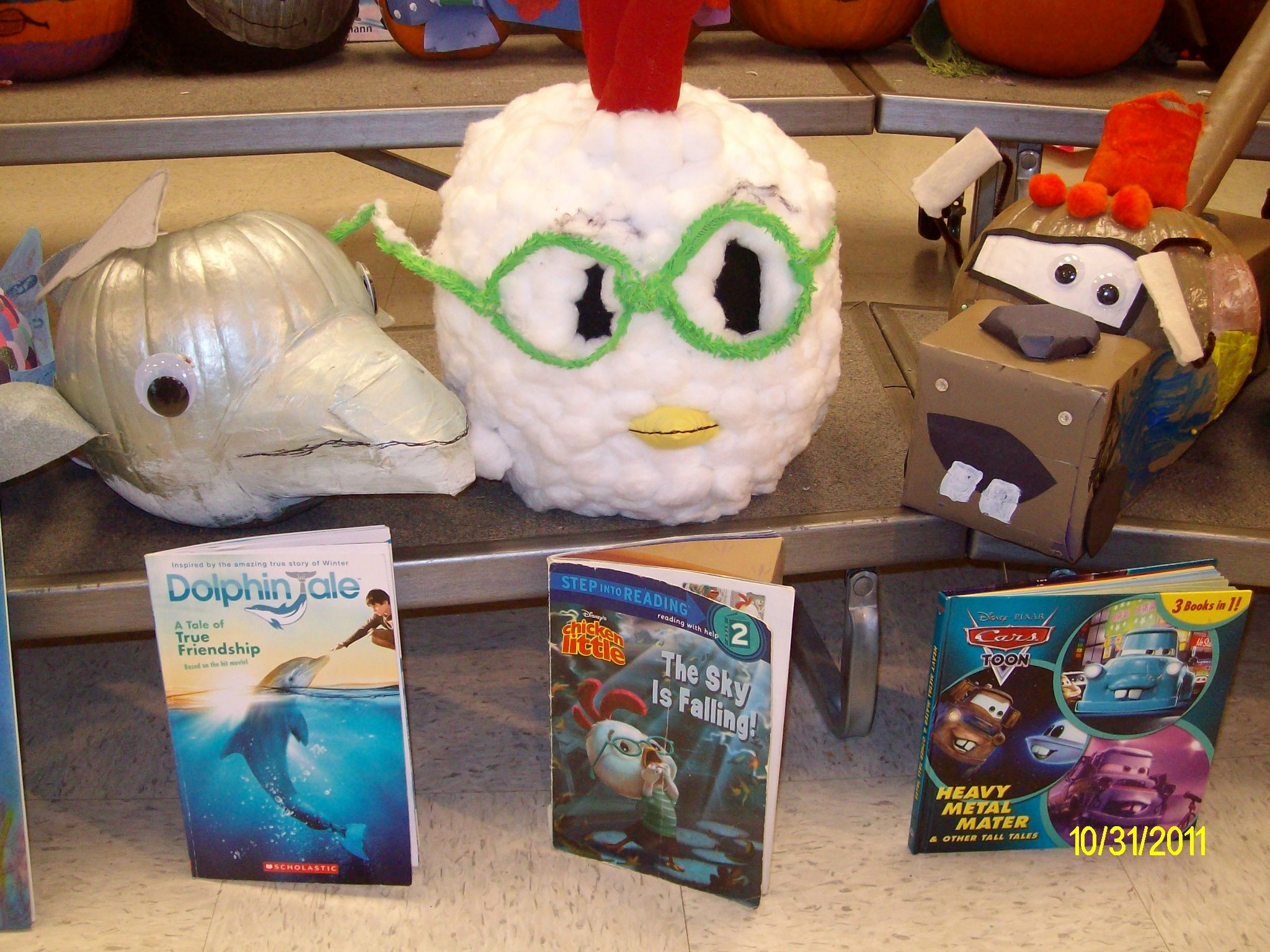 Dolphin Tale And Chicken Little Pumpkin Characters