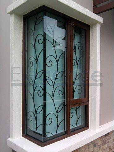 burglar bars for windows security bars artistic design wrought ...