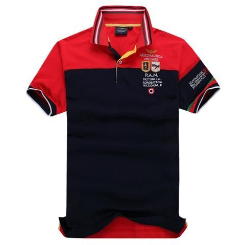 9aec1c91faa Top Quality Aeronautica Militare Man Short Shirts Air Force One Men s Polos  Embroidery Shirts Men Wear