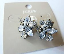 NWT J. CREW Factory Crystal Stud Earrings $22 + 3 shipping
