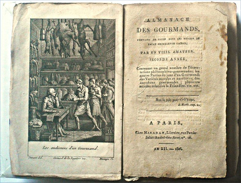 File Almanach Des Gourmands Jpg Wikimedia Commons Book Worms History Book Cover