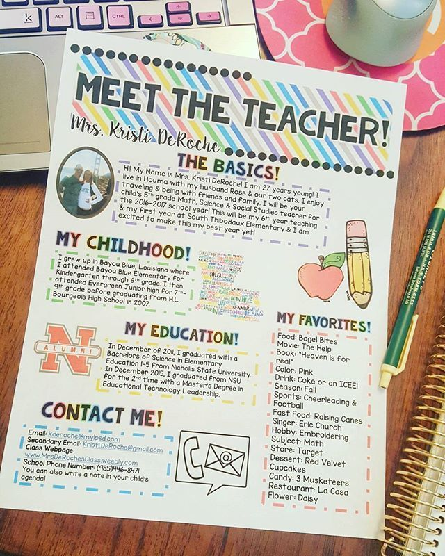 Do you have a simple classroom theme like I do? This Meet THE Teacher newsletter might be just perfect for you!! It is editable and is a great way to introduce yourself to students and their parents!! Check it out! Store link in bio.   Bit.ly/MeetTeachBri #meettheteacherideas