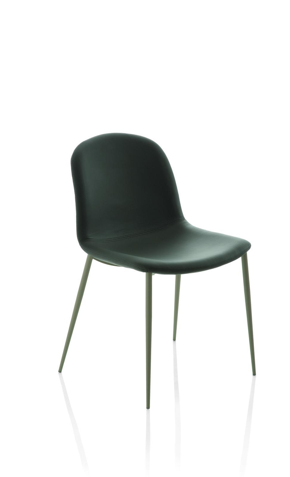 Bontempi Casa Seventy chair metal legs Contemporary dining chair – Metal Frame Dining Chairs