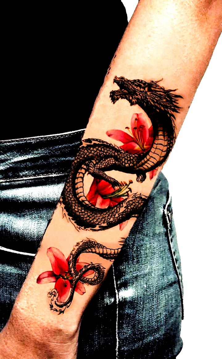 Dragon Tattoo | Tattoo Ideas and Inspiration #bestfriendtattoos #fingertattoos #tattoo #tattoo