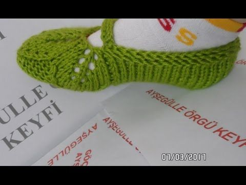2 Şişle Yapraklı Patik Modeli Yapılışı Anlatımlı Videolu