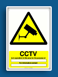 photo relating to Free Printable Safety Signs known as absolutely free printable facts stability act cctv caution indicator No cost