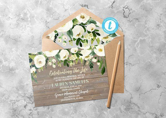 funeral announcement cards funeral postcard printing - 570×407