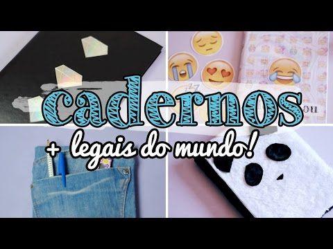 DIY Customização de Cadernos - 4 ideias incríveis!!! - YouTube