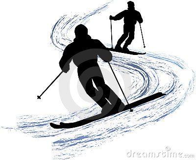 Snow Skiers Eps Silhouette People Skiing Tattoo Rock Painting Designs