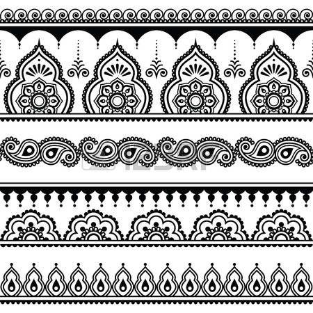 motif henné: Mehndi, indienne tatouage au henné seamless, des ...