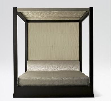 ARMANI CASA OSAKA FOUR POSTER CANOPY BED ASIAN FURNITURE : asian canopy bed - memphite.com