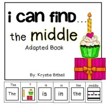 Prepositions The Middle  Adapted Book Special Education Autism