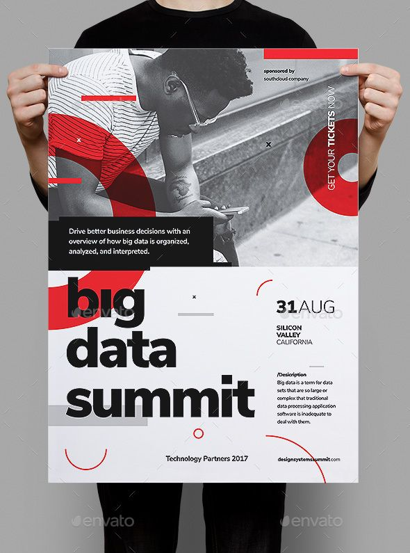 big data conference poster flyer