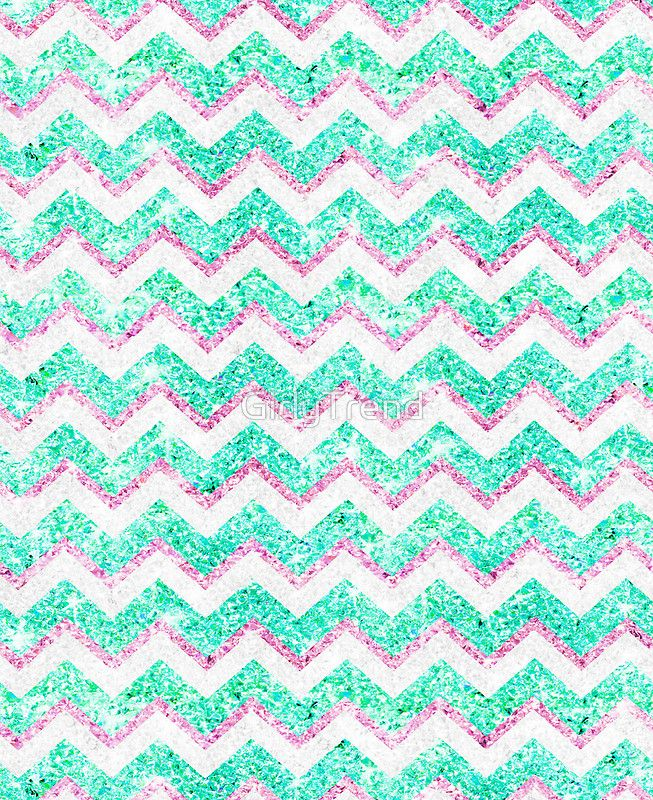 Chevron Pattern Girly Teal Pink Glitter Photo Photographic Print By Girlytrend Teal Phone Case Teal Iphone Cases Wallpaper Iphone Cute