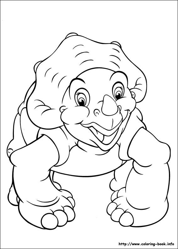 The Land Before Time Coloring Picture Dinosaur Coloring Pages Cartoon Coloring Pages Dinosaur Coloring