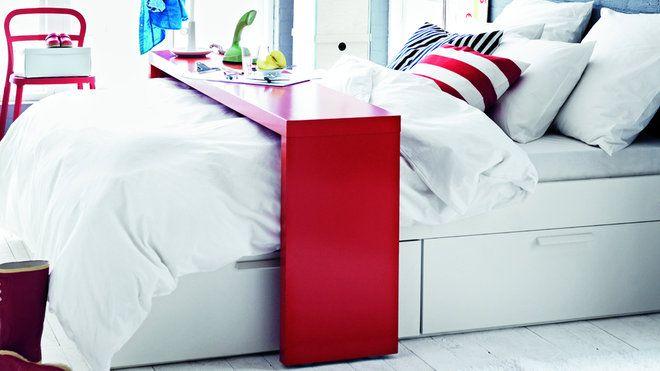 Ikea table de lit a roulettes meuble de salon contemporain d co en 2019 bed table ikea - Roulette meuble ikea ...