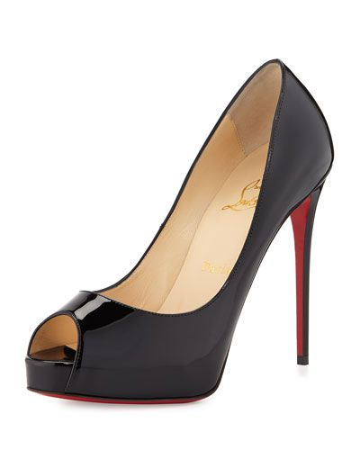573bb084a58 X2SQ9 Christian Louboutin New Very Prive Peep-Toe Red Sole Pump ...