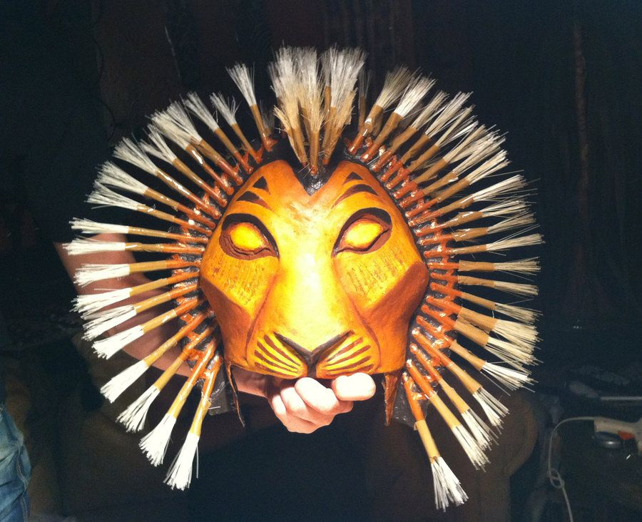 Self Made Simba Mask Made Of Paper Mache And Wire Musical