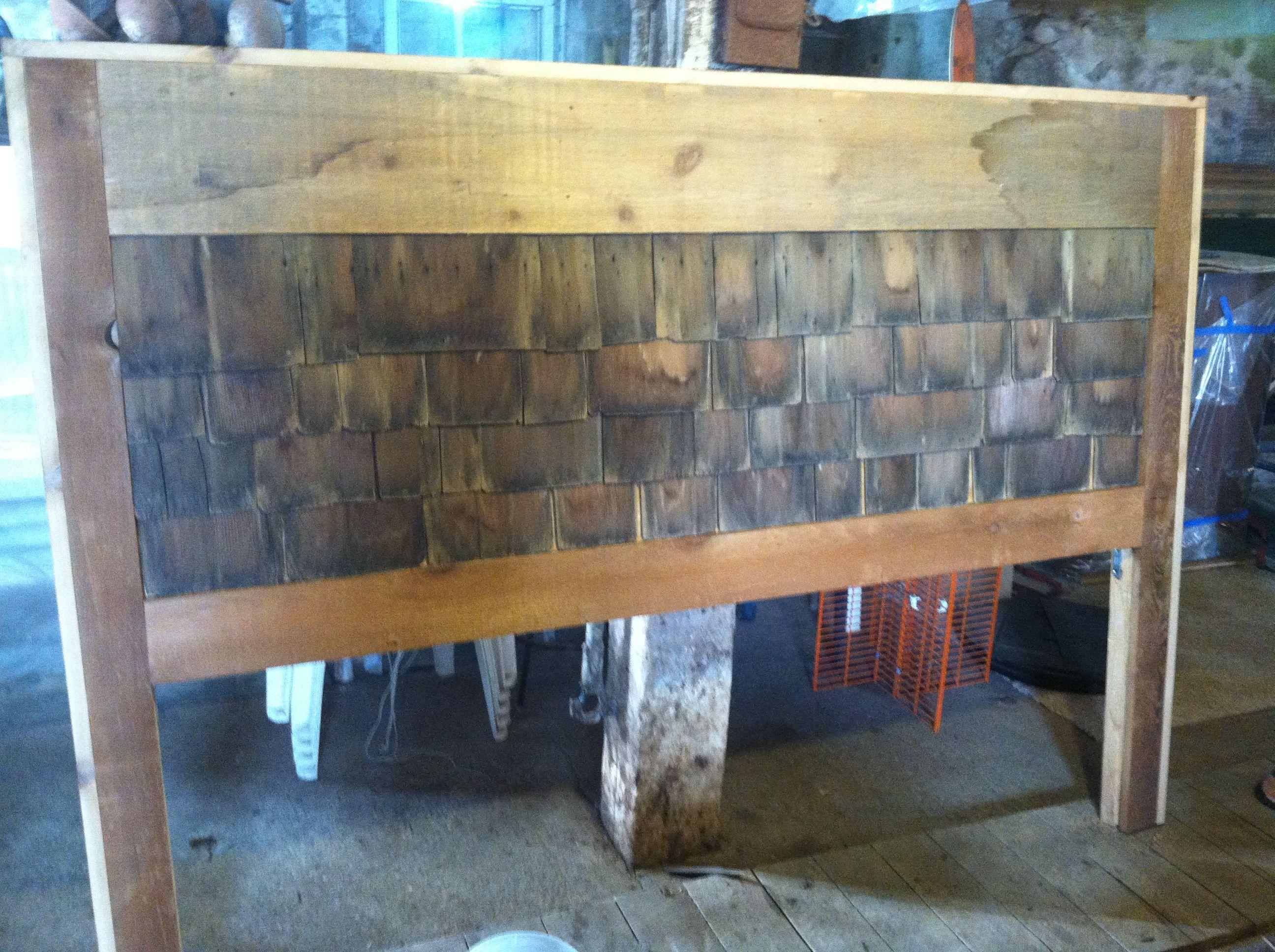 Headboard Rough Cut Cedar And Old Cedar Shake Shingles
