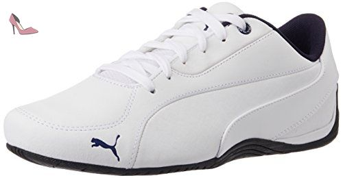 Smash V2 L, Sneakers Basses Mixte Adulte, Blanc White-Peacoat, 37.5 EUPuma