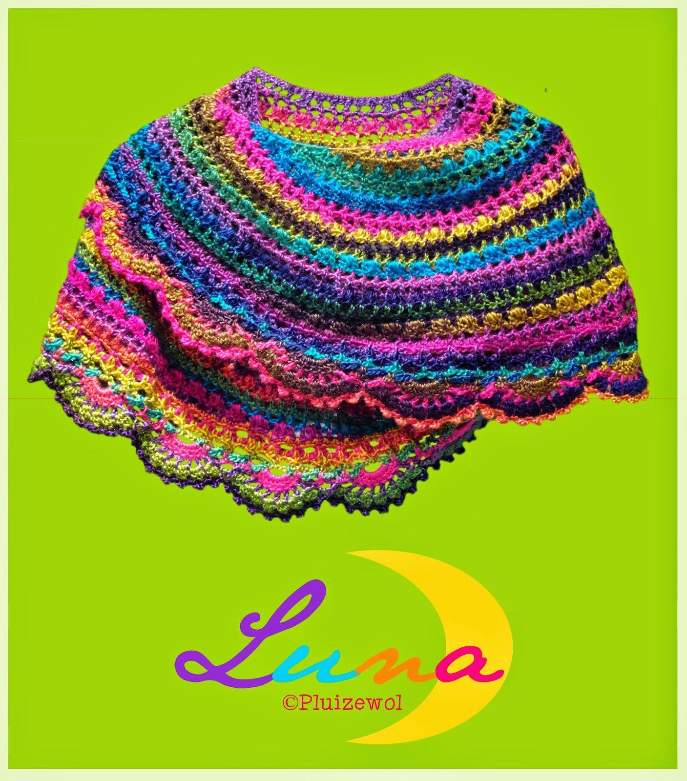 Halve Maan Sjaal Haken Omslagdoek Haken Haken Crochet Shawl