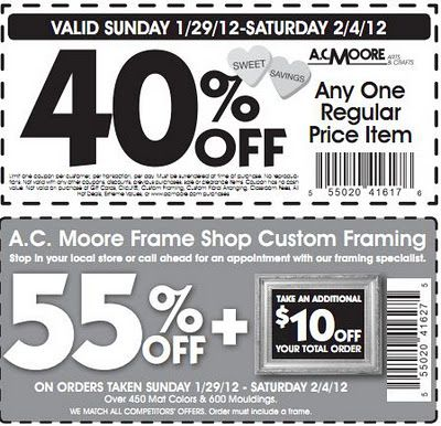 Coupon Source !! Kept uptodate for Craft Store Coupons