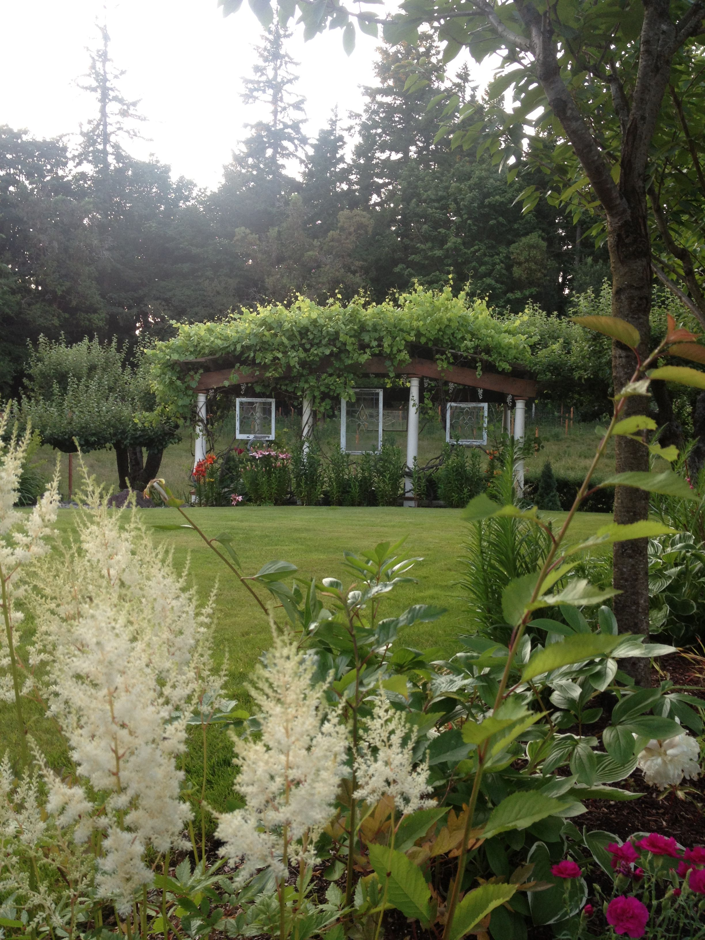 Using old windows for garden art.   DIY Garden Treasures ...