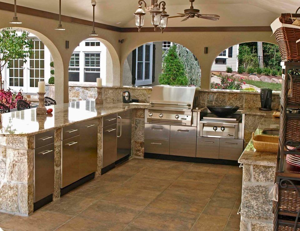 The Frame Of The Kitchen Can Be Made From Concrete Blocks Brick