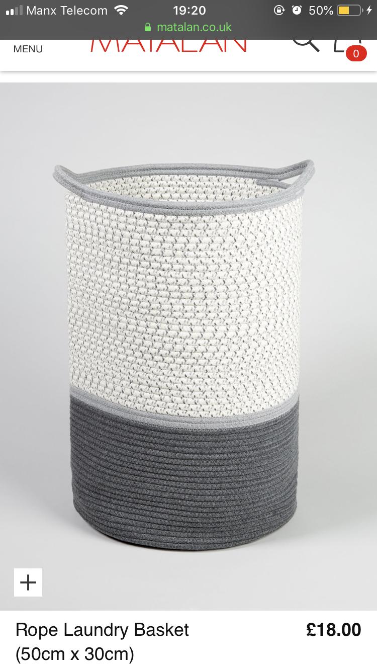 Grey Laundry Basket Image By Annabel Stephenson On Interior