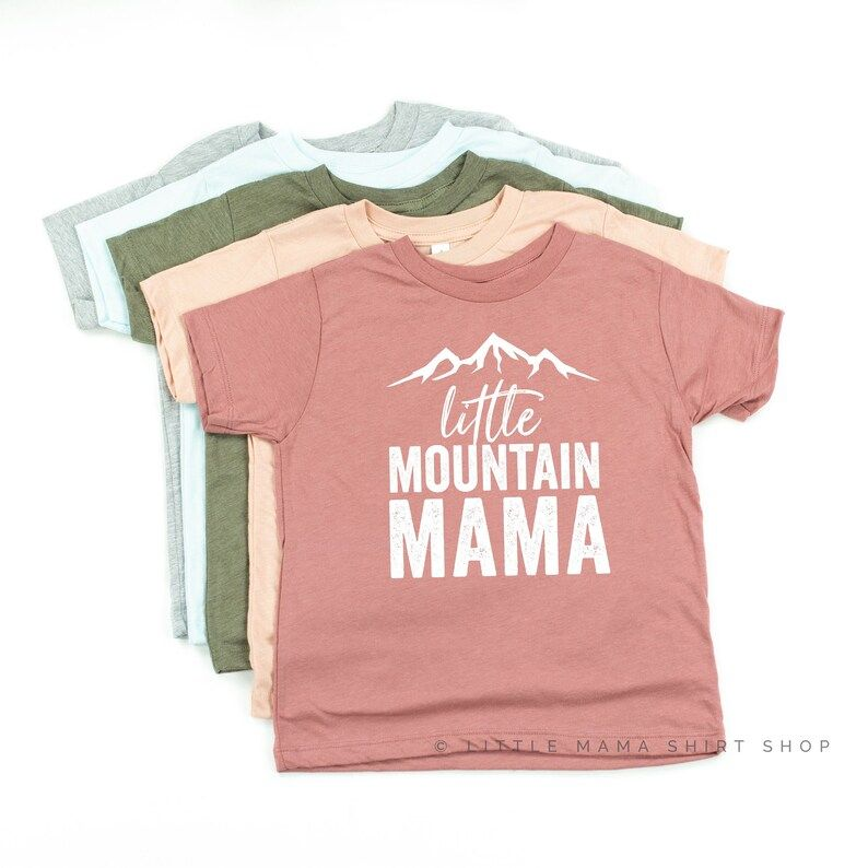 Little Mountain Mama Shirts for Little Girls Adventure   Etsy