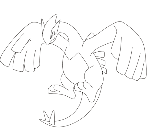 Click To See Printable Version Of Lugia Coloring Page Pokemon Lugia Pokemon Coloring Pages Pokemon Drawings