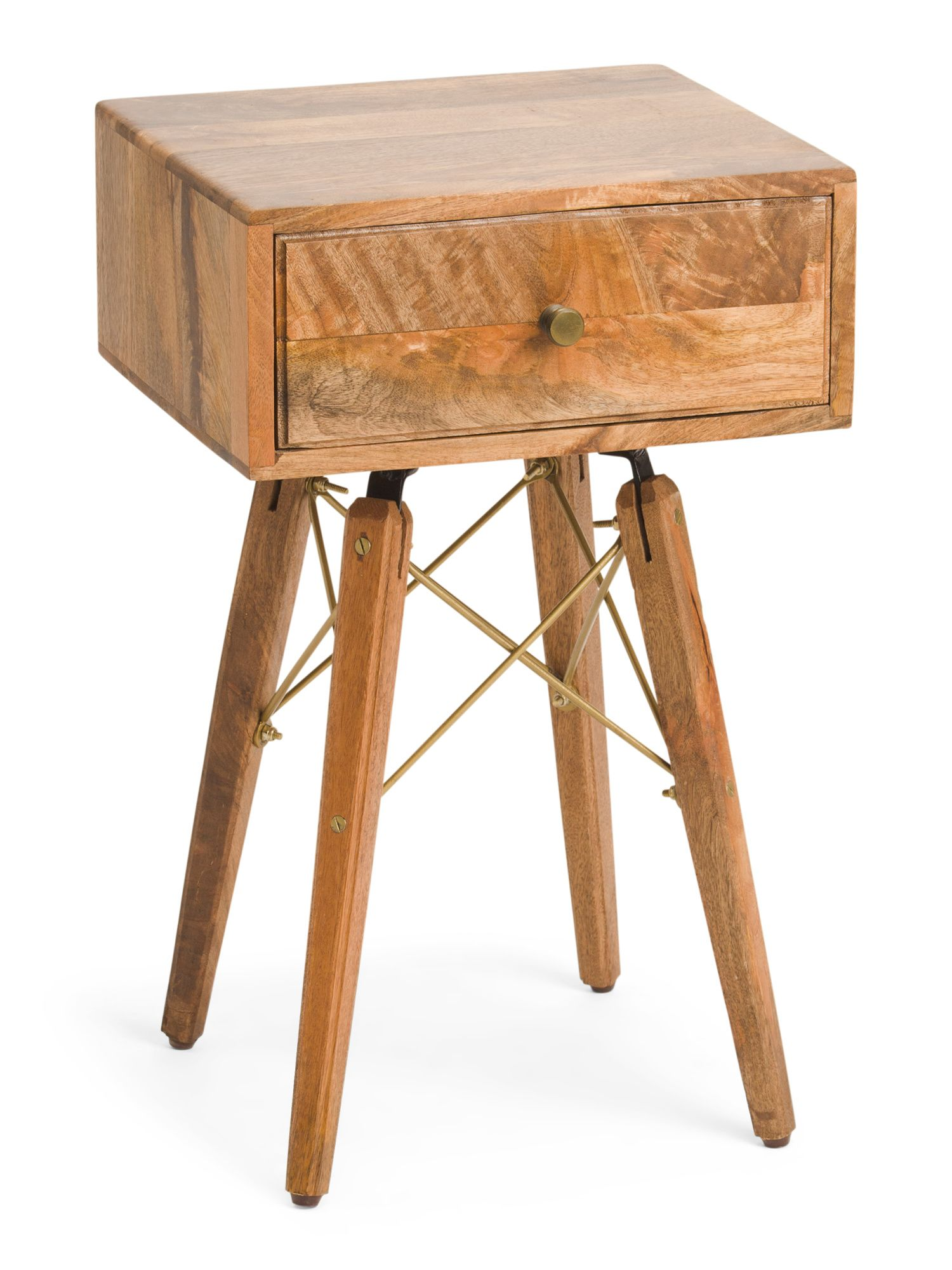 Bedside Tables For 2 Mango Wood Bedside Table Accent Furniture T J Maxx In 2021 Mango Wood Bedside Tables Wood Bedside Table Wood Accent Table