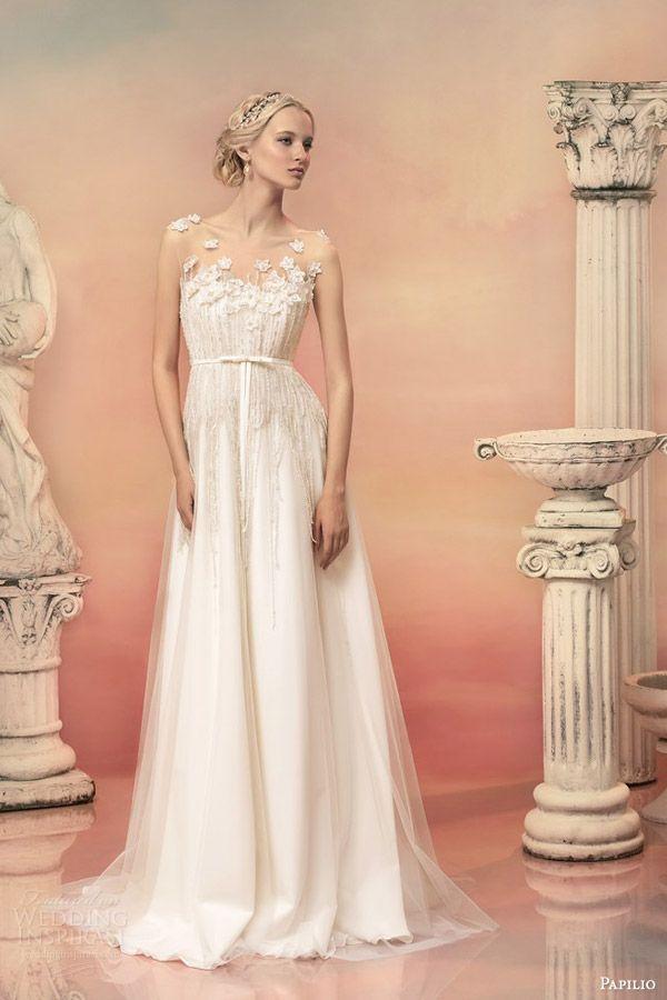 aefa2321feefd ナチュラル可愛い♡柔らかな透明感をもつエンパイアラインのドレスまとめ♡にて紹介している画像
