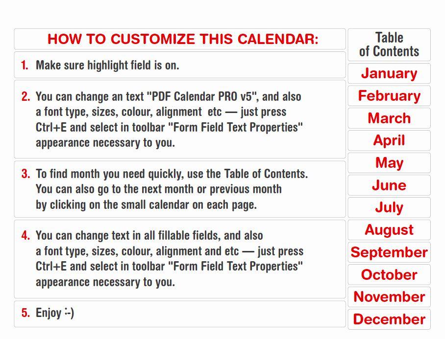 25 Calendar 2016 Template Pdf in 2020 Calendar, Best