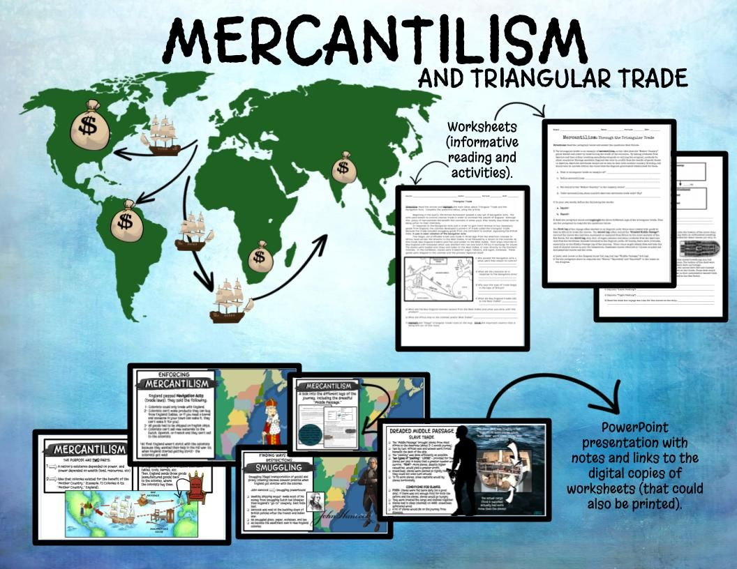 Mercantilism Triangular Trade Middle Passage Digital In 2020 Middle Passage Powerpoint Presentation Activities
