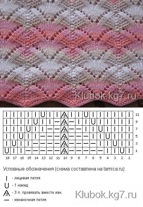 uzor.vjagu.ru   punto   Pinterest   Dos agujas, Puntadas y Puntos