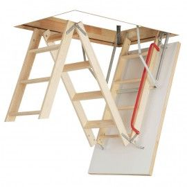 Optistep Ole 60cm X 111cm Wooden Loft Ladder Hatch H Up To 280cm Loft Ladder Attic Renovation Attic Stairs
