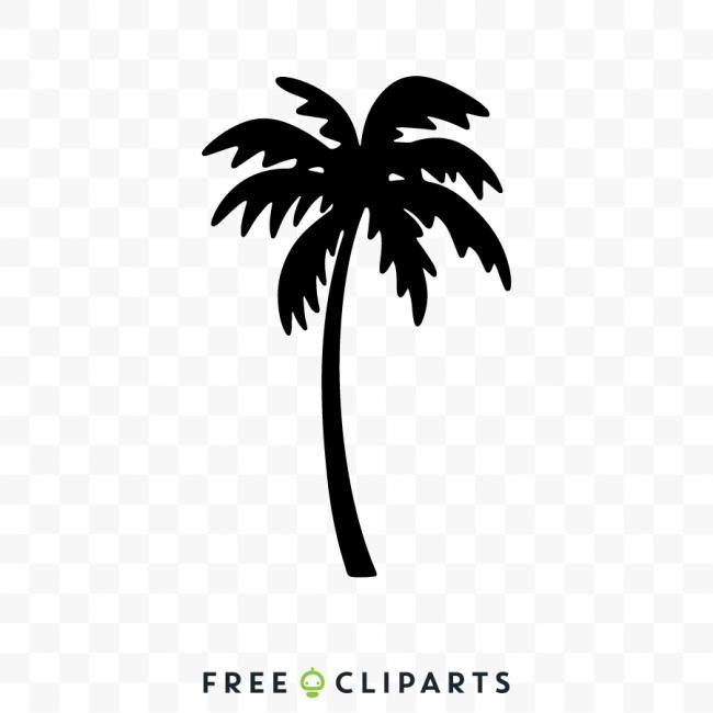 Free Palm Tree Silhouette Clipart Palm Tree Silhouette Palm Tree Clip Art Palm Trees Painting