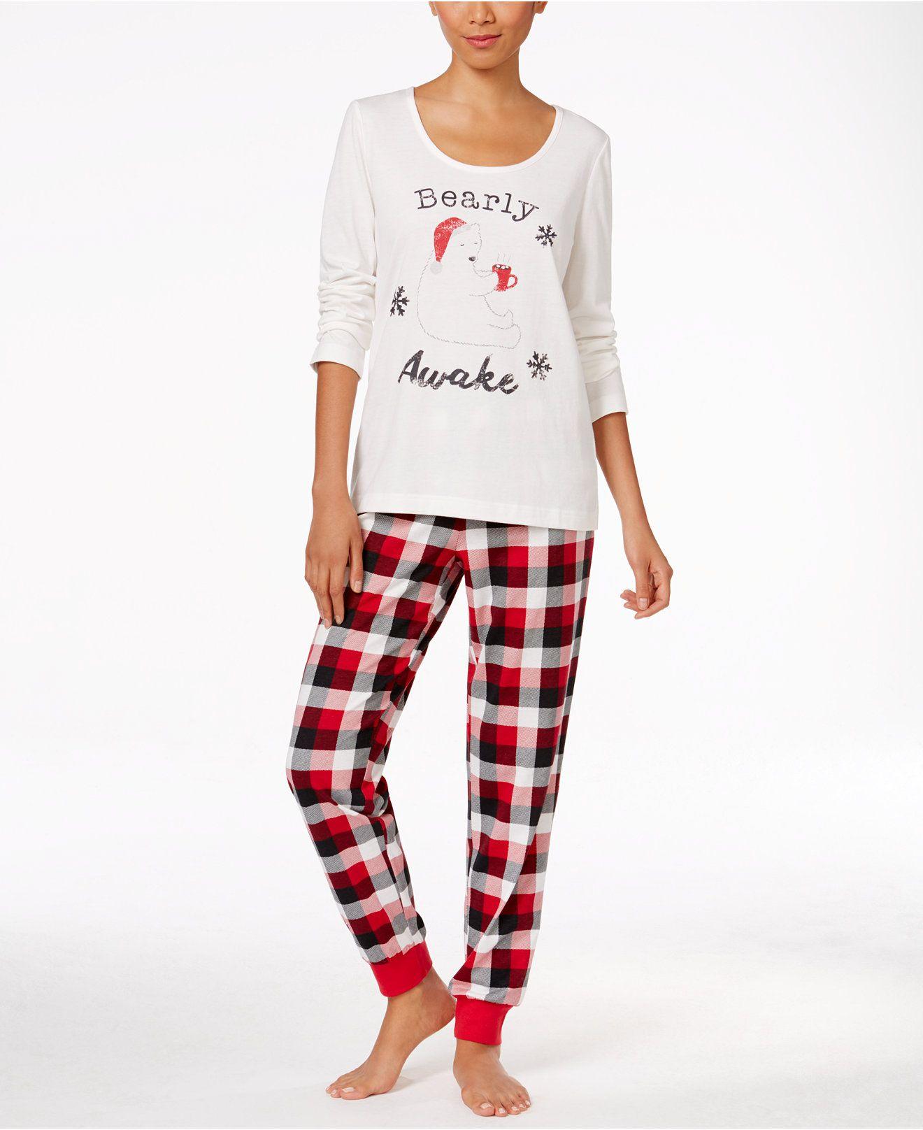 7a96c766a4 Family Pajamas Women s Buffalo Plaid Bearly Awake Pajama Set