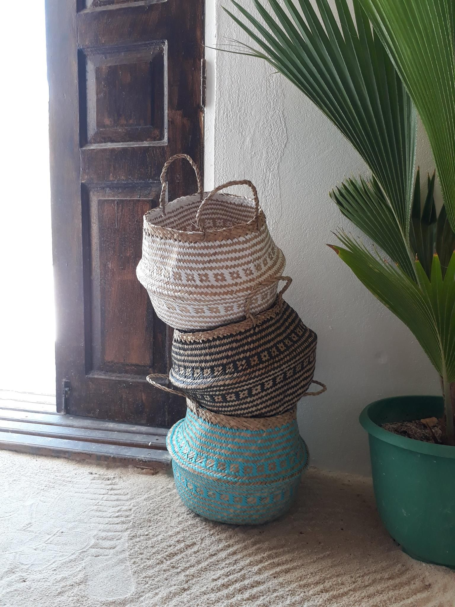 If one of your goals for this year is to organize your home, we have exactly what you are looking for! Our Rara basket, not only does it have a beautiful tribal pattern, but it's very resilient and can store plenty of things. You just have to use your imagination.