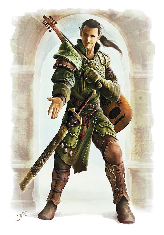Bard Dungeons Dragons Characters Character Portraits Half Elf