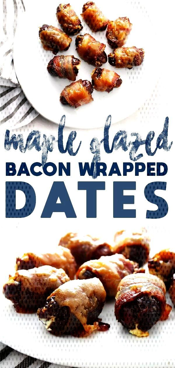 Bacon Wrapped Maple Glazed Dates | Aimee Mars Living Bacon Wrapped Maple Glazed Dates taste as perf